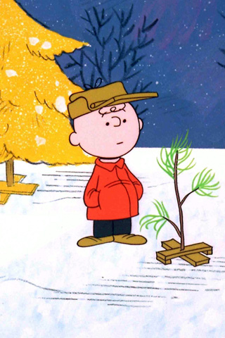 charlie brown xmas tree